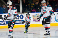 KELOWNA, CANADA - MARCH 8: The Pepsi Save-On Foods Player of the game skates with the Kelowna Rockets as they play the Tri-City Americans on March 8, 2014 at Prospera Place in Kelowna, British Columbia, Canada.   (Photo by Marissa Baecker/Getty Images)  *** Local Caption *** Pepsi Save-On Foods Player