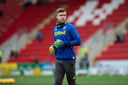 January 26, 2019 - Rotherham, England, United Kingdom - Bailey Peacock-Farrell of Leeds United warming up before the Sky Bet Championship match between Rotherham United and Leeds United at the New York Stadium, Rotherham, England, UK, on Saturday 26th January 2019. (Credit Image: © Mark Fletcher/NurPhoto via ZUMA Press)