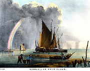 Nimbus clouds which bring rain. Print, 1845.