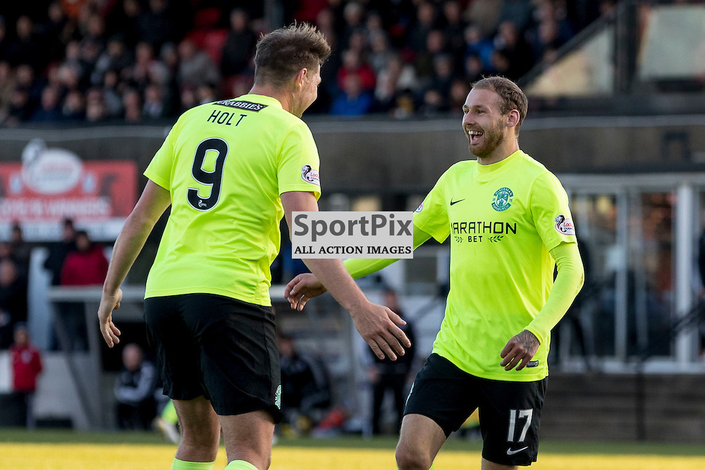 Ayr v Hibernian   SPFL season 2016-2017  <br /> <br /> Martin Boyle (Hibernian) celebrates opening goal during the Ladbrokes Championship match between Ayr &amp; Hibernian at Somerset Park Stadium on 5 November 2016<br /> <br /> Picture: Alan Rennie