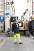 municipal worker during the Covid 19 crisis and lockdown France Limoux April 2020