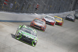 October 7, 2018 - Dover, Delaware, United States of America - Kyle Busch (18) battles for position during the Gander Outdoors 400 at Dover International Speedway in Dover, Delaware. (Credit Image: © Justin R. Noe Asp Inc/ASP via ZUMA Wire)