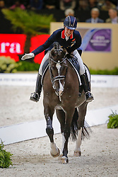 Dujardin Charlotte (GBR) - Valegro<br /> Reem Acra FEI World Cup™ Dressage Final 2013/2014<br /> Lyon 2014<br /> © Dirk Caremans