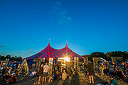 The sun begins to set on the first main day - The 2018 Latitude Festival, Henham Park. Suffolk 13 July 2018