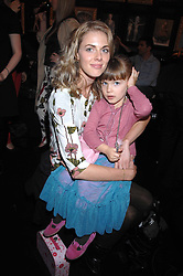 DONNA AIR and her daughter FREYA ASPINAL in the Moet & Chandon Room at British Fashion Week at the Natural History Museum on 15th February 2007.<br />