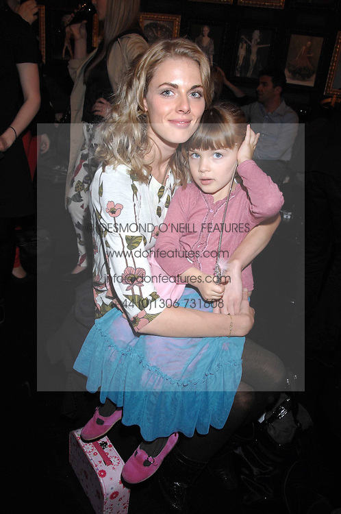 DONNA AIR and her daughter FREYA ASPINAL in the Moet & Chandon Room at British Fashion Week at the Natural History Museum on 15th February 2007.<br /><br />NON EXCLUSIVE - WORLD RIGHTS