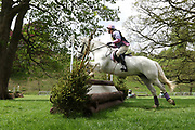 Patricia Haisman riding Wheelgate Dark Secret during the International Horse Trials at Chatsworth, Bakewell, United Kingdom on 11 May 2018. Picture by George Franks.