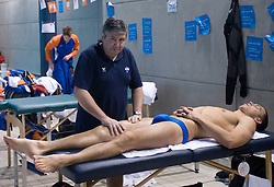 Massage at 4th day of Heats of LEN European Short Course Swimming Championships Rijeka 2008, on December 14, 2008,  in Kantrida pool, Rijeka, Croatia. (Photo by Vid Ponikvar / Sportida)