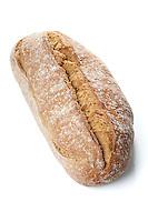Bread on white backgorund - close-up