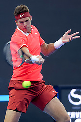 BEIJING, Oct. 2, 2018  Juan Martin del Potro of Argentina hits a return during the men's singles first round match against Albert Ramos-Vinolas of Spain at China Open tennis tournament in Beijing, China, Oct. 2, 2018. Juan Martin del Potro won 2-0. (Credit Image: © Liu Jinhai/Xinhua via ZUMA Wire)