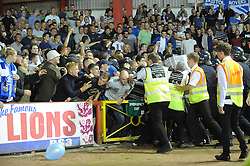 Fans push against stewards  - Photo mandatory by-line: Dougie Allward/JMP - Tel: Mobile: 07966 386802 04/09/2013 - SPORT - FOOTBALL -  Ashton Gate - Bristol - Bristol City V Bristol Rovers - Johnstone Paint Trophy - First Round - Bristol Derby
