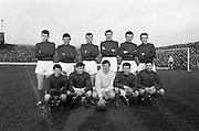 06/02/1966<br /> 02/06/1966<br /> 06 February 1966<br /> League of Ireland: Shamrock Rovers v Waterford at Glenmalure Park, Milltown, Dublin. The Waterford team.