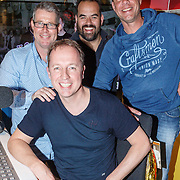 NLD/Hilversum/20150417 - Evers Staat Op bestaat 15 jaar, Edwin Evers met Niels van Baarlen, Rick Romijn en Henk Blok