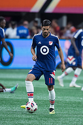 August 1, 2018 - Atlanta, Georgia, United States - MLS All-Star forward CARLOS VELA, 11, (Los Angeles FC) warms up before the 2018 MLS All-Star Game at Mercedes-Benz Stadium in Atlanta, Georgia.  Juventus F.C. defeats  MLS All-Stars defeat  1 to 1  (Credit Image: © Mark Smith via ZUMA Wire)