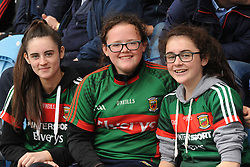 Chloe Blake, Shauna Keavney Amy Blake Lahardane and Parke watching Mayo take on Derry at McHale park.<br />