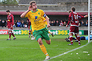 Bristol - Saturday November 7th, 2009: Grant Holt of Norwich City celebrates his goal against Paulton Rovers during the FA Cup 1st round match at Paulton. (Pic by Alex Broadway/Focus Images)..