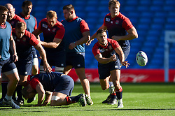 Danny Care of England passes the ball - Mandatory byline: Patrick Khachfe/JMP - 07966 386802 - 09/10/2015 - RUGBY UNION - Manchester City Stadium - Manchester, England - England Captain's Run - Rugby World Cup 2015.