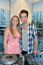 SOPHIE O'NEILL and NICK GRIMSHAW at the French Connection #NeverMissATrick Launch Party held at French Connection, 396 Oxford Street, London on 23rd July 2014.