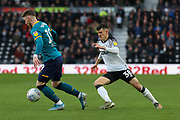 Josh Bowler on the ball during the EFL Sky Bet Championship match between Derby County and Hull City at the Pride Park, Derby, England on 18 January 2020.