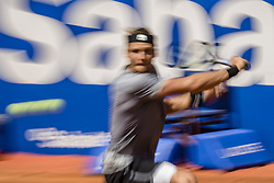 April 26, 2018 - Barcelona, Catalonia, Spain - JOZEF KOVALIK (SVK) returns the ball to Dominic Thiem (AUT) during Day 4 of the 'Barcelona Open Banc Sabadell' 2018. Thiem won 7:6, 6:2 (Credit Image: © Matthias Oesterle via ZUMA Wire)