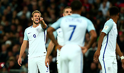 Harry Kane of England directs the players during his first game as captain - Mandatory by-line: Robbie Stephenson/JMP - 05/10/2017 - FOOTBALL - Wembley Stadium - London, United Kingdom - England v Slovenia - World Cup qualifier