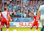16-08-2017: Voetbal: FC Utrecht v Zenit Sint Petersburg: Utrecht<br /> <br /> (L-R) Supporters van FC Zenit tijdens duel in voorronde Europa League tussen FC Utrecht en FK Zenit St Petersburg op 16 augustus in stadion Galgenwaard in Utrecht<br /> <br /> Voorronde Europa League (UEFA) - Seizoen 2017 / 2018<br /> <br /> Foto: Gertjan Kooij