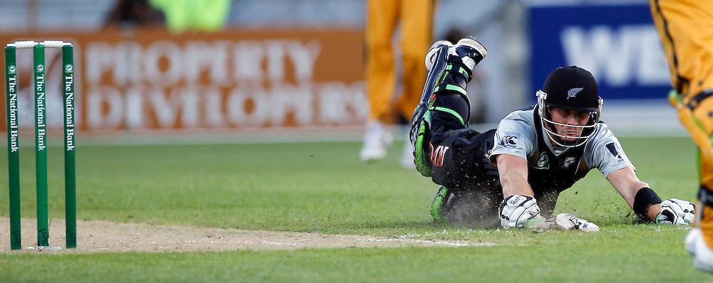 Martin Guptill not out New Zealand v Australia Twenty20 cricket match. Westpac Stadium, Wellington. Friday 26 February 2010. Photo: Anthony Phelps/PHOTOSPORT