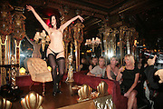 EXOTIC ENTERTAINMENT, Agent Provocateur celebrate the launch of Agent Provocateur Maitresse Gold Edition. The Grill Room. Cafe Royal London. 3 October 2007. -DO NOT ARCHIVE-© Copyright Photograph by Dafydd Jones. 248 Clapham Rd. London SW9 0PZ. Tel 0207 820 0771. www.dafjones.com.