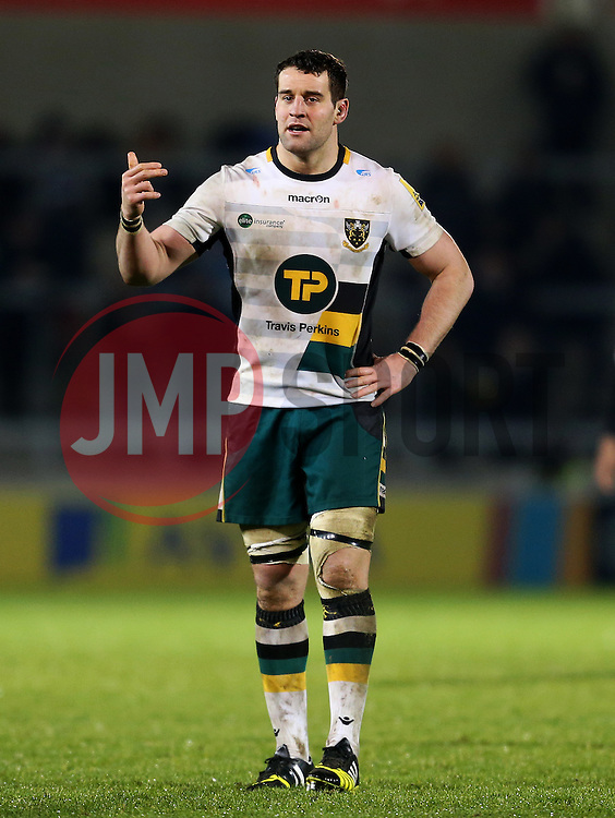 Calum Clark of Northampton Saints - Mandatory by-line: Matt McNulty/JMP - 03/03/2017 - RUGBY - AJ Bell Stadium - Sale, England - Sale Sharks v Northampton Saints - Aviva Premiership