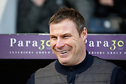 Mansfield manager David Flitcroft before the EFL Sky Bet League 2 match between Notts County and Mansfield Town at Meadow Lane, Nottingham, England on 16 February 2019.