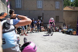 Anna van der Breggen (NED) of Boels-Dolmans Cycling Team rides near the top of the final climb of Stage 5 of the Giro Rosa - a 12.7 km individual time trial, starting and finishing in Sant'Elpido A Mare on July 4, 2017, in Fermo, Italy. (Photo by Balint Hamvas/Velofocus.com)