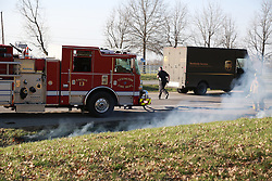 Brush Fire on NCR near Versailles, Tuesday, April 01, 2014 at New Circle Road in Lexington.