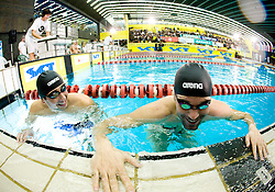 Mario Todorovic of Croatia and Peter Mankoc of PK Ilirija (SLO)  during the 50m Butterfly at the swimming competition Ilirija Challenge 2009, on December 16, 2009, in Tivoli pool, Ljubljana, Slovenia. (Photo by Vid Ponikvar / Sportida)