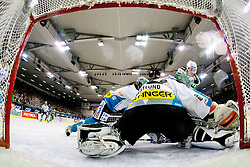 Alex Westlund (EHC Liwest Linz, #32) during ice-hockey match between HDD Tilia Olimpija and EHC Liwest Black Wings Linz at fourth match in Semifinal  of EBEL league, on March 13, 2012 at Hala Tivoli, Ljubljana, Slovenia. (Photo By Matic Klansek Velej / Sportida)