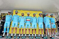 Equipe Astana - 29.04.2015 - Etape 2 - Tour de Romandie - Apples / Saint Imier<br /> Photo : Sirotti / Icon Sport