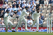 Virat Kohli of India takes the catch to dismiss Alastair Cook of England during the first day of the 4th SpecSavers International Test Match 2018 match between England and India at the Ageas Bowl, Southampton, United Kingdom on 30 August 2018.