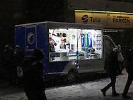 FOOTBALL: Heavy snowfall prior to the UEFA Europa League round of 32, second leg, match between FC København and PFC Ludogorets Razgrad at Parken Stadium, Copenhagen, Denmark on February 23, 2017. Photo: Claus Birch