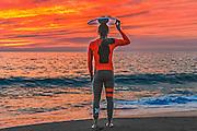 Male Skim Boarder at Aliso Beach Orange County California