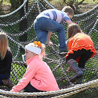 There a many games to play and things to enjoy at the Tupelo Buffalo Park's Pumpkin Patch like the giant spider web
