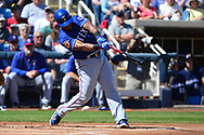 PHOENIX, AZ - MARCH 04:  Adrian Beltre #29 of the Texas Rangers at bat against the Milwaukee Brewers in the spring training game at Maryvale Baseball Park on March 4, 2017 in Phoenix, Arizona.  (Photo by Jennifer Stewart/Getty Images)