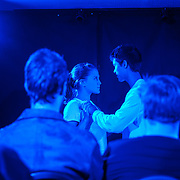 Heloise Spring as Gloria and Sky Yang as Padraic in Luiza Minghella's 'All My Life Long' at the Edinburgh Fringe Festival 2017. 25 Aug 2017. Credit: Photo by Tina Norris. <br /> Copyright photograph by Tina Norris. Not to be archived and reproduced without prior permission and payment. Contact Tina on 07775 593 830 info@tinanorris.co.uk  <br /> www.tinanorris.co.uk