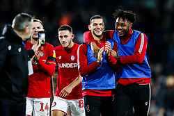 Pedro Pereira and Antoine Semenyo of Bristol City celebrate after Bristol City win 1-2 - Rogan/JMP - 07/12/2019 - Craven Cottage - London, England - Fulham v Bristol City - Sky Bet Championship.