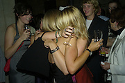 Kate Mosse and Martha Mosse, Book party for Sepulchure by Kate Mosse. Crypt at at. Martin in the Fields. Trafalgar Sq. London. 31 October 2007. -DO NOT ARCHIVE-© Copyright Photograph by Dafydd Jones. 248 Clapham Rd. London SW9 0PZ. Tel 0207 820 0771. www.dafjones.com.