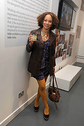 Actress ANGELA GRIFFIN at a party to celebrate the launch of the Bobbi Brown Makeup Manual held at the Getty Images Gallery, 46 Eastcastle Street, London W1 on 29th January 2009.