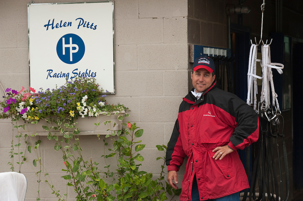 Trainer Helen Pitts and outrider husband Greg Blasi