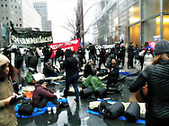 Today around 250 converged on the Goldman Sachs Corp office in New York City as part of a 3 day occupation, in response to the high number of Goldman Sachs people who have been selected by President Elect Donald Trump. Credit: Mark Apollo/Hashtag Occupy Media