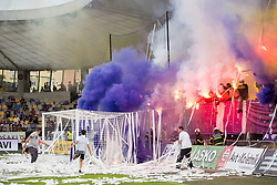 Supporters of NK Maribor, Viole during football match between NK Maribor and ND Gorica in Round #36 of Prva liga Telekom Slovenije 2017/18, on April 27, 2018 in Ljudski vrt, Maribor, Slovenia. Photo by Urban Urbanc / Sportida
