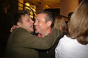 RANKIN AND HAMISH MCALPINE, Champagne reception celebrating 100 years of Chinese cinema  hosted by Hamish McAlpine of Tartan Films, Raising money for Care For Children, a foster care programme in China. Aspreys. New Bond St. London. 25 April 2006. ONE TIME USE ONLY - DO NOT ARCHIVE  © Copyright Photograph by Dafydd Jones 66 Stockwell Park Rd. London SW9 0DA Tel 020 7733 0108 www.dafjones.com