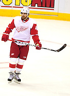 Apr 23, 2010; Glendale, AZ, USA; Detroit Red Wings left wing Henrik Zetterberg (40) during the second period of game five in the first round of the 2010 Stanley Cup Playoffs at Jobing.com Arena.  Mandatory Credit: Jennifer Stewart-US PRESSWIRE