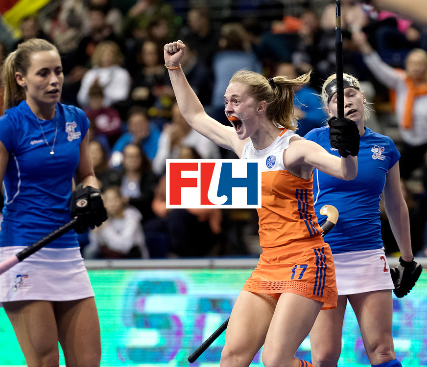 BERLIN - Indoor Hockey World Cup<br /> Quarterfinal 4: Netherlands - Czech Republic<br /> foto: Elin van Erk.<br /> WORLDSPORTPICS COPYRIGHT FRANK UIJLENBROEK